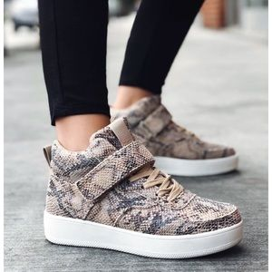 Fashion Nova Bronte Snake Print Sneakers